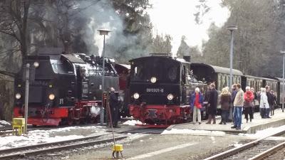 Brockenbahn der HSB im April 2015